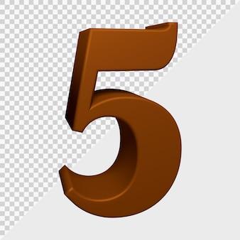Rendu 3d du numéro 5