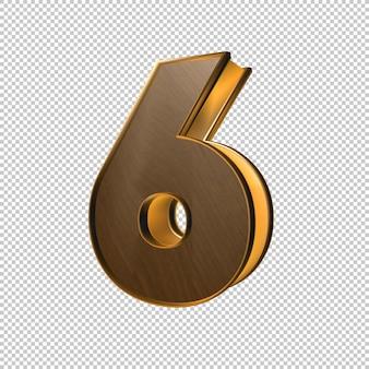 Rendu 3d du numéro 6