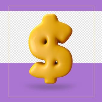 Rendu 3d du symbole $