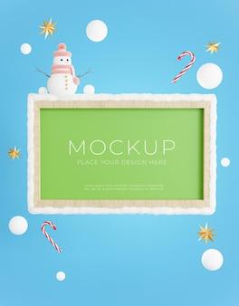 Rendu 3d du tableau vert avec concept de vente d'hiver pour l'affichage du produit