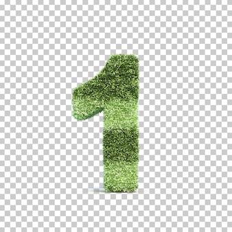 Rendu 3d du terrain de jeu d'herbe numéro 1