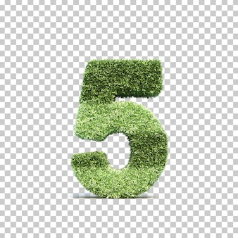 Rendu 3d du terrain de jeu d'herbe numéro 5