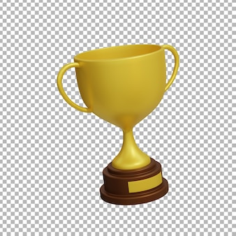Rendu 3d du trophée
