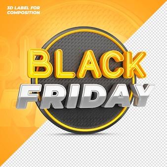 Rendu 3d du vendredi noir des médias sociaux