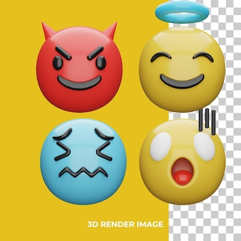 Rendu 3d d'emoji d'expression