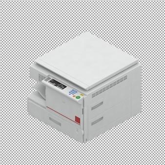 Rendu 3d d'équipement de bureau isométrique