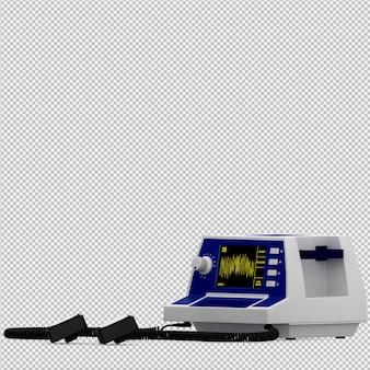 Rendu 3d d'équipement médical isométrique
