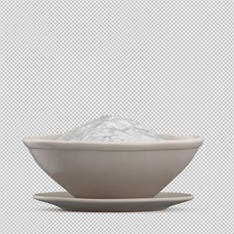 Rendu 3d de farine