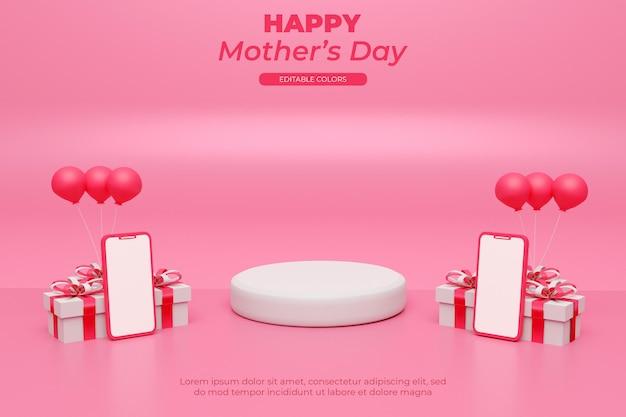 Rendu 3d de la fête des mères