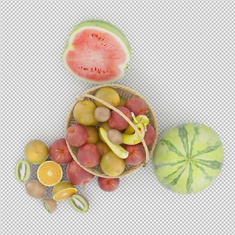 Rendu 3d de fruits