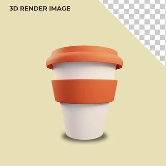 Rendu 3d de gobelets en plastique