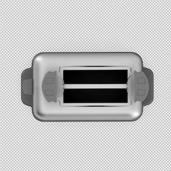 Rendu 3d grille-pain isométrique