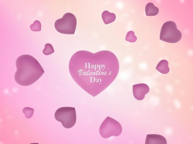 Rendu 3d happy valentines day