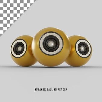 Rendu 3d de haut-parleur d'or