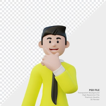 Rendu 3d d'homme d'affaires souriant