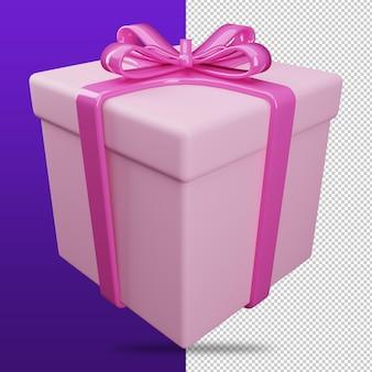 Le rendu 3d de l'icône de la boîte de cadeaux est récompensé