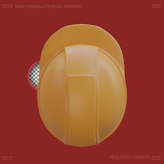 Le rendu 3d illustration de barre de travail jaune