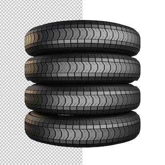 Rendu 3d de l'illustration isolée de pneu