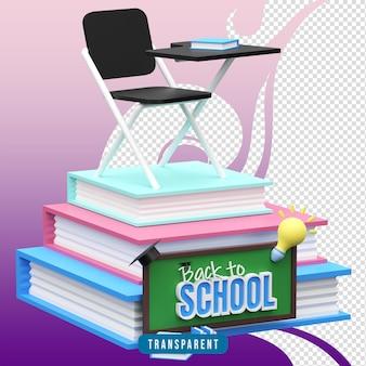 Rendu 3d de l'illustration de la rentrée scolaire