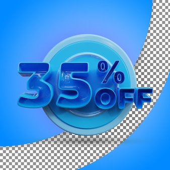 Rendu 3d isolé 35% rendu 3d réaliste produit offert
