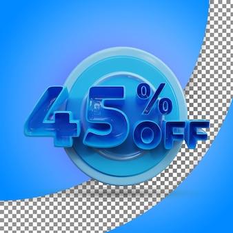 Rendu 3d isolé 45 % rendu 3d réaliste produit offert