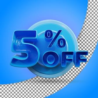 Rendu 3d isolé 5 % rendu 3d réaliste produit offert