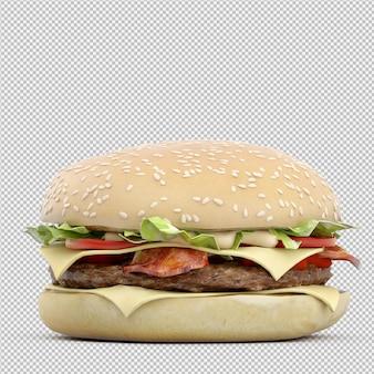 Rendu 3d isolé de burger