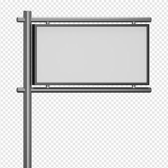 Rendu 3d isolé de l'icône du panneau d'affichage