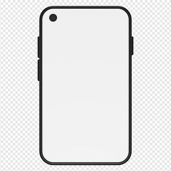 Rendu 3d isolé de l'icône du smartphone psd