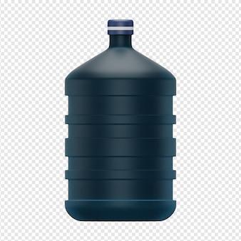 Rendu 3d isolé de l'icône de gallon psd