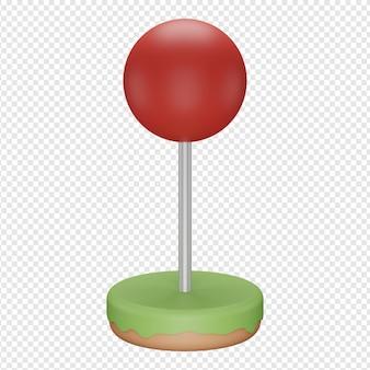 Rendu 3d isolé de l'icône de localisation psd