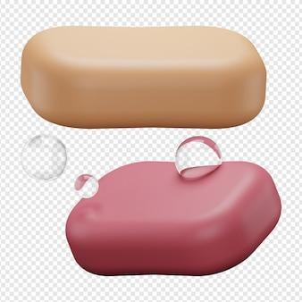 Rendu 3d isolé de l'icône de savon