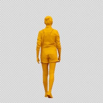 Rendu 3d isométrique de femme