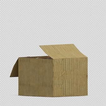 Rendu 3d isométrique de noix de coco