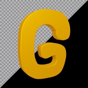 Rendu 3d de la lettre de l'alphabet g