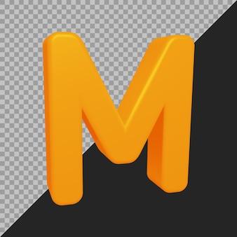 Rendu 3d De La Lettre M De L'alphabet PSD Premium