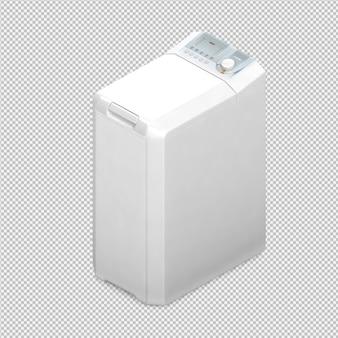 Rendu 3d de machine à laver isométrique