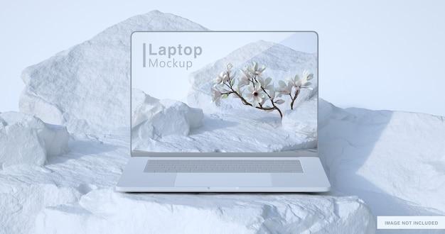 Rendu 3d de maquette d'ordinateur portable