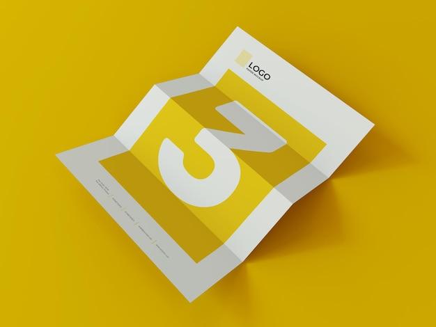 Rendu 3d de maquette de papier de document commercial