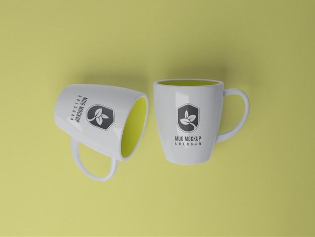 Rendu 3d de maquette de tasse
