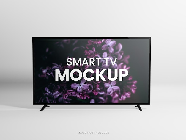 Rendu 3d de maquette de télévision intelligente