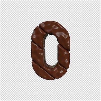 Rendu 3d de numéro de chocolat