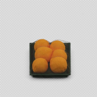 Rendu 3d d'oranges