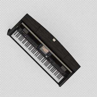 Rendu 3d de piano isométrique