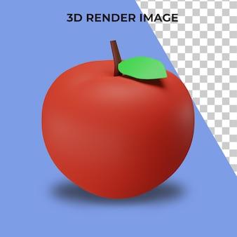 Rendu 3d des pommes premium psd