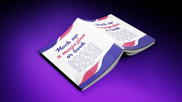 Rendu 3d pour couverture de livre maquette