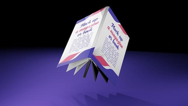 Rendu 3d pour maquette de couverture de livre volant