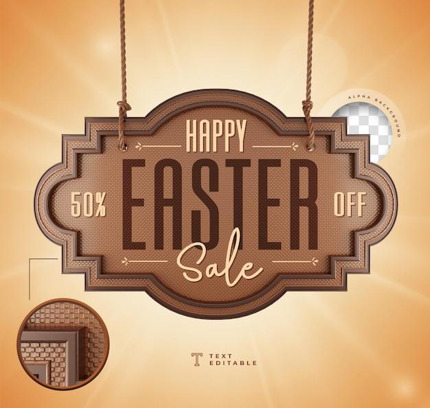 Rendu 3d réaliste happy easter sale chocolate