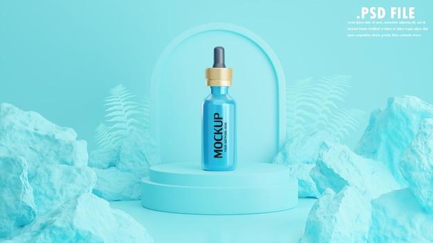 Rendu 3d de soins cosmétiques pour la marque de maquette