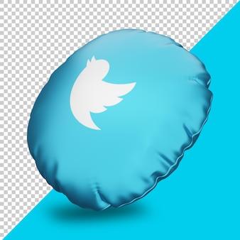 Rendu 3d spotify avec icône d'oreiller